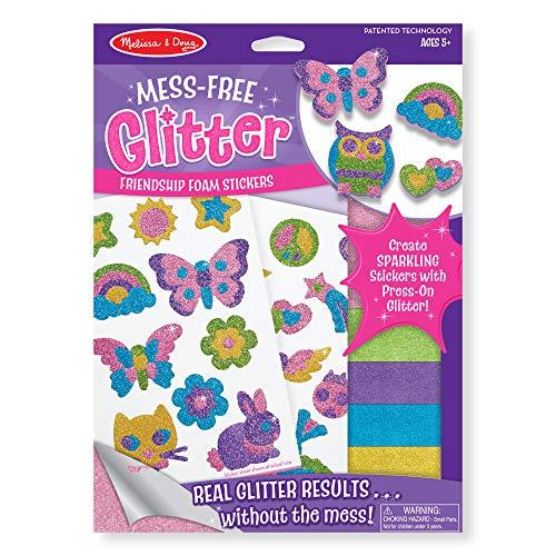 Melissa & Doug Mess Free Glitter - Friendship Foam Stickers, Multi Color