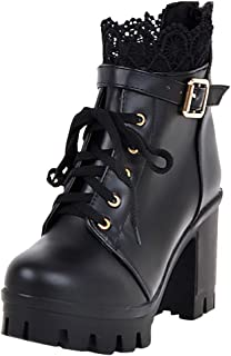 LONGDAYVelvet Ankle Boot with Zipper Mid-Calf Fashion ShoesWomen's Comfort Stacked Chunky Heel Ankle Booties