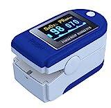 SATURIMETRO DA DITO Pulsossimetro OSSIMETRO SPO2 dito e Cardiofrequenzimetro,...
