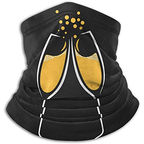Archiba Champagne Champagne Design Party Menu Winter Neck Guêtre WarmerFace Mask for Cold Weather Running Outdoor Scarf