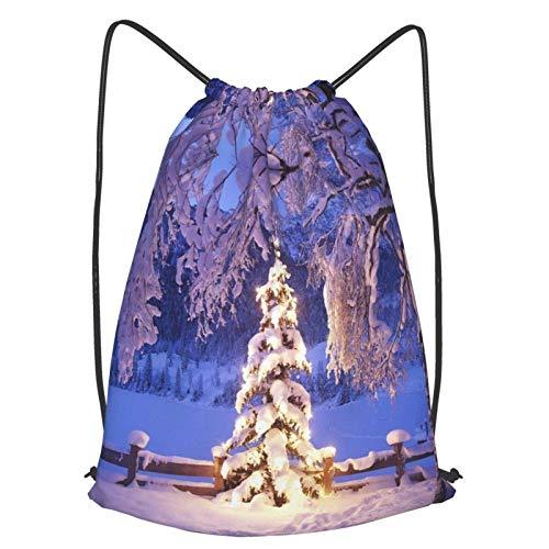Quintion Cooper Christmas Lights Drawstring Strap Pack Sport Gym Sackpack School Hiking Yoga Travel Beach For Men Women