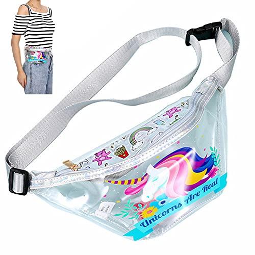 Onsinic Frauen-transparente Gürteltasche Kinder PVC Flamingos Fanny Pack Junge Mädchen Wasserdicht Kasten-Beutel-Kind-Plastik Hip Bum Bags (())