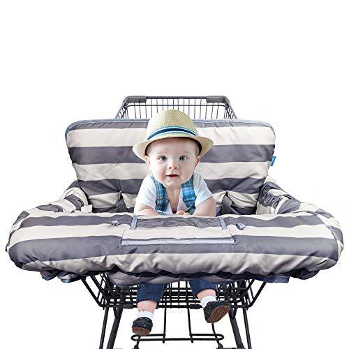 DODO NICI Shopping Cart Cover for Baby boy Girl, fit Cellphone Carrier-Bottle Strap, Reversible Gprocery Cart Cushion Liner, Infant High Chair Cover, Large