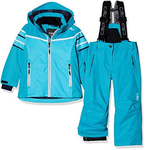 CMP Feel Warm Flat 5.000 39W2015, Set Giacca e Pantaloni Bambina, Turchese, 128