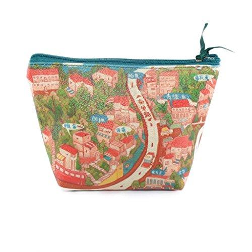 TaylorHe Make-up Bag Beauty Case Borsa Cosmetico Trucco Sacchetto borsa da toilette città di mare