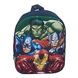 Avengers - Mochila escolar Marvel 3D, siluetas en relieve Iron Man, Capitán América