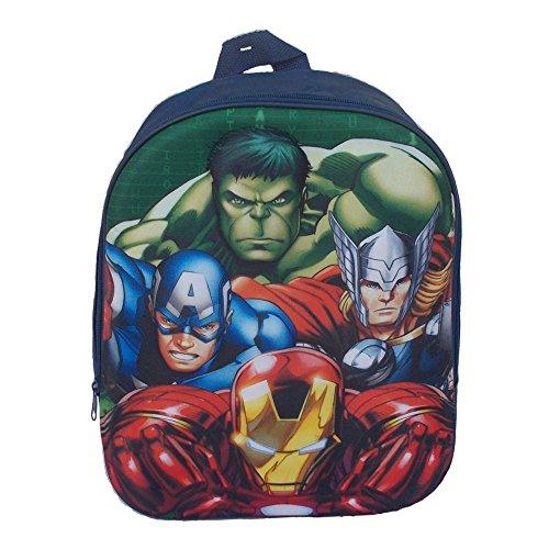 Rucksack Rucksack Schule Kindergarten 3d Marvel avengers- Schablone Relief - Aktendeckel Rucksack Iron Man, Captain America