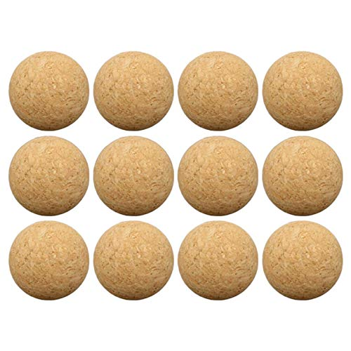 B/S Tischkickerbälle Profi Kicker Bälle Holz Tischfußball Bälle 36 mm Klein Mini Tischkicker Fußball Ball für Kinder und Erwachsene Tischfussballbälle Spiel
