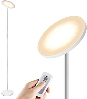 LED Floor Lamps, Torchiere Floor lamp Super Bright Tall Uplight Standing Lights 3 Color Temperatures for Bedroom Remote Control & Touch, Albrillo Dimmable Modern Pole Light for Bed Rooms, Living Room