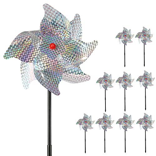 camouflage net Bird Blinder Repellent Pinwheels Reflective Bird Scarer...