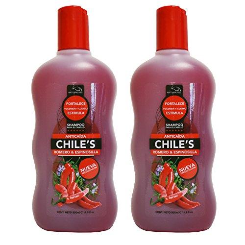 2 X Natturalabs Chili Rosemary Shampoo/Anticaida Chile's Romero & Espinosilla 16.9oz