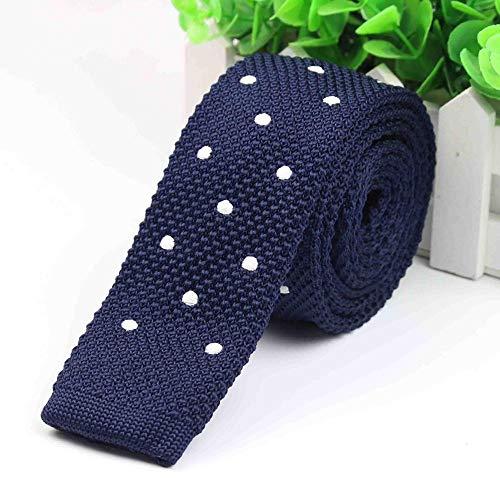 CCYUANG Krawatte Herren Herren Farbe Krawatte Gestrickte Strick Krawatte Gestickte Krawatte Schmale Schlanke Gewebte Hals Krawatte-3