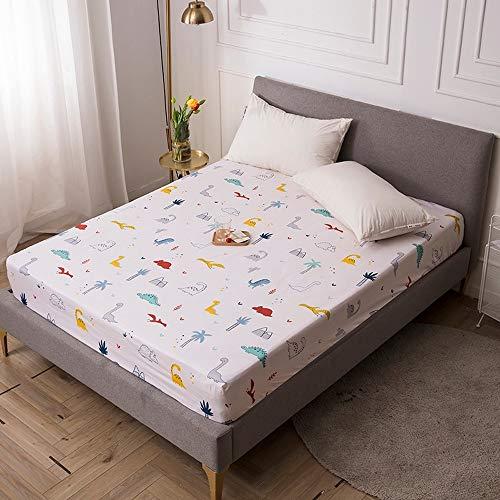 ABUKJM Funda de colchón de impresión a color, impermeable, protector de colchón, antiácaros, sábana de cama con elástico (C13,220X200X30cm)