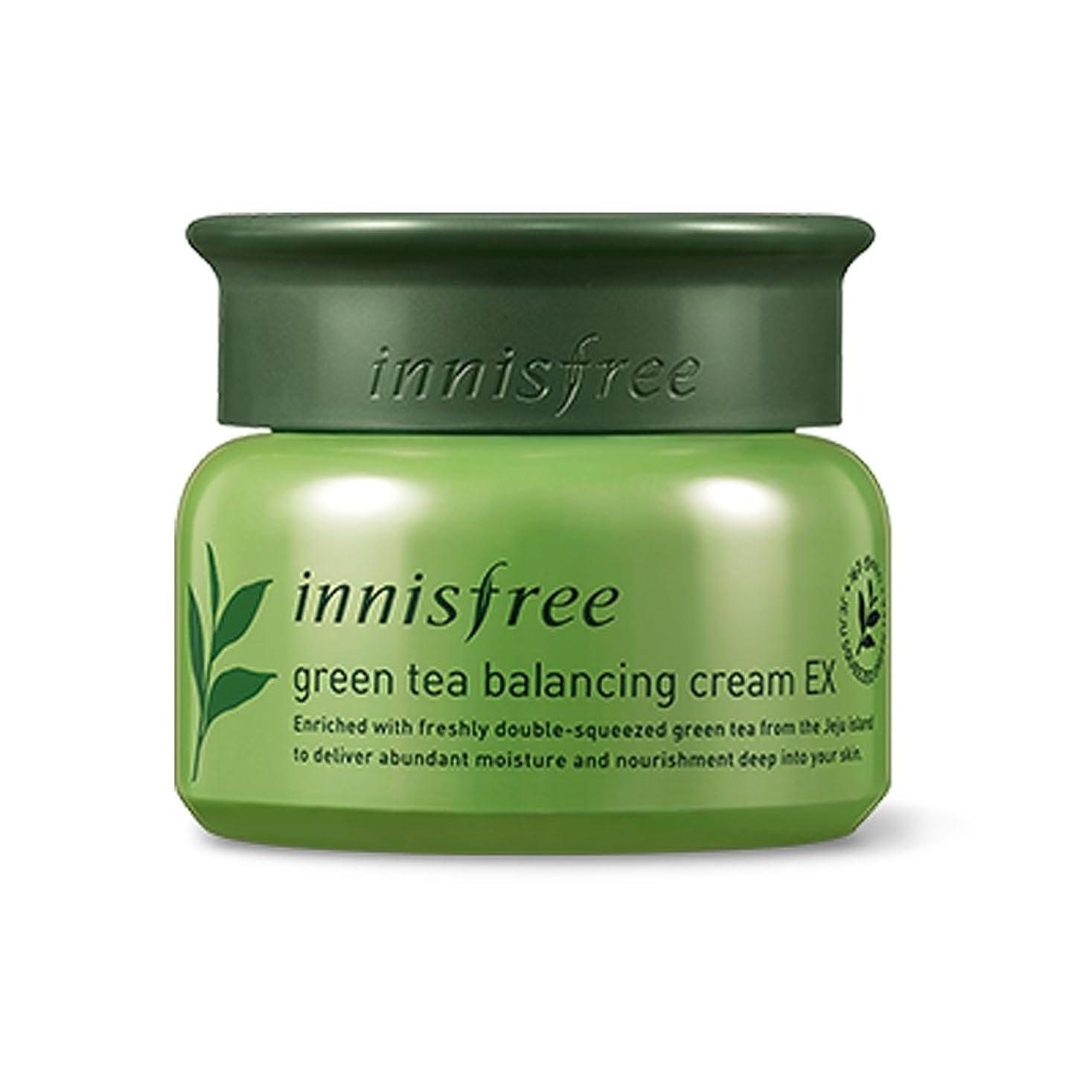 オーバーフロー情熱的不定イニスフリーグリーンティーバランスクリーム50ml「2018新製品」 Innisfree Green Tea Balancing Cream 50ml