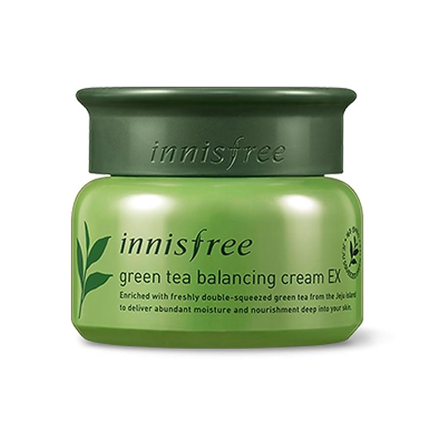 こしょう打撃見積りイニスフリーグリーンティーバランスクリーム50ml「2018新製品」 Innisfree Green Tea Balancing Cream 50ml