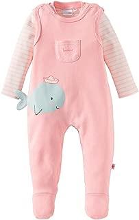 Bornino Seaside Shorts 100/% Baumwolle Stoffhose im maritimen Streifen-Look /& K/ängurutasche f/ür Babys /& Kleinkinder Offwhite//blau