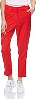Calvin Klein J20J209554 Comfort Fit 645 Side Stripe Twill Trouser for Womens in Red, Size:29inches