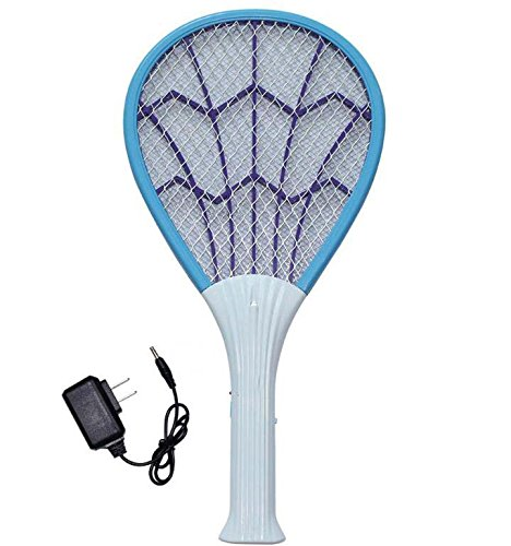 Oplaadbare elektronische led-muggenvanger, grote muggenmes, voor binnen en buiten, met ledlamp.