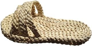 SSJ Casual Natural Straw Sandals Cosplay Flip Flops Indoor Slipper Shoes Massage for Mens