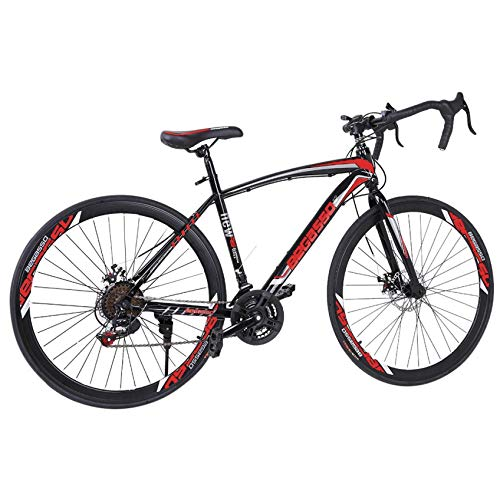 Lightweight high Carbon Steel Road Bicycle, Begasso Shimanos Aluminum Full Suspension Road Bike 21 Speed Disc Brakes, 26 inch Durable Bike, 700c Tire [Fast Delivery from The U.S.]