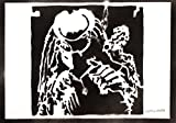 Poster Predator Yautja Grafiti Hecho a Mano - Handmade Street Art - Artwork...
