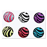 Home Button Sticker for iPhone/iPad/iTouch (Zebra)
