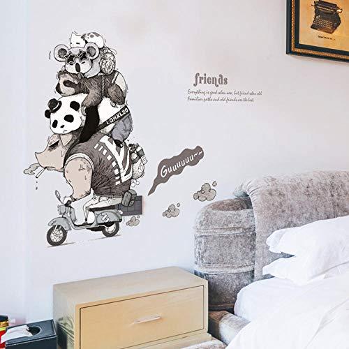 Cooldeer dierenvrienden persoonlijkheid kinderkamer deur veranda loper bed hoek decoratieve muursticker