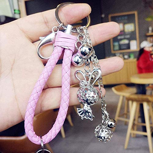 BESTSUGER Car Styling Keychain Flower Thousand Bone Palace Bell Keychain, Lucky Grass Palace Bell Keychain, Cute Creative Keychain, Girls Backpack Pendant-A4,Colour Name:A7 Keychain, (Color : A16)
