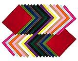 Filzstoff 30 St. DIN A4 Filzplatten Bastelfilz dekorativer
