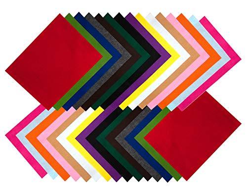 Filzstoff 30 St. DIN A4 Filzplatten Bastelfilz dekorativer farblich sortiert 2 Bögen je Farbe Filzuntersetzer Platzset Filz zum Basteln