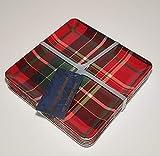 Tommy Bahama Tartan Plaid Dinnerware, Tartan Plaid Red, Green - 100% Melamine Dishwasher Safe (6' x 6', Square Appetizer Plates Set of 6)