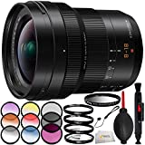 Panasonic Leica DG Vario-Elmarit 8-18mm f/2.8-4 ASPH. Lens Includes 3 Piece Filter Kit (UV, CPL, FLD) + 4 Piece Macro Filter Set (+1, 2, 4, 10) + 6 Piece Color Graduated Filter Kit & More!