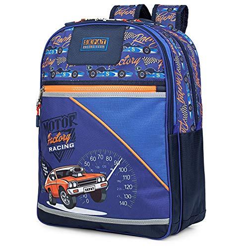 SKPAT - School rugzak met wielen voor kinderen. Trolley auto Handle Verstelbare strips. Comfortabel en waterdicht. School. Sequins Sleutelhanger. 130391