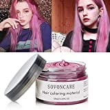 Hair Color Wax Hair Dye Wax Temporary Hair Dye Cream Fashion Modeling Mud DIY Hairstyle Dye Pomade Professional Styling Wax for Date, Party, Halloween