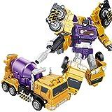 A/A Camión de juguete para niños 6 en 1, vehículo de construcción, hormigoneras, carretillas elevadoras, grúas, excavadoras, Bulldozer, juguete pedagógico para niños