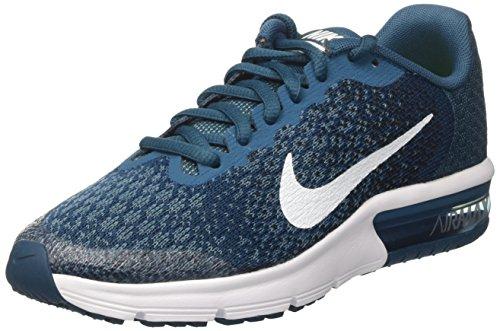 Nike Air MAX Sequent 2 GS, Zapatillas Niños, Azul (Legion Blue/White/Black/Smokey Blue/Volt), 38.5 EU