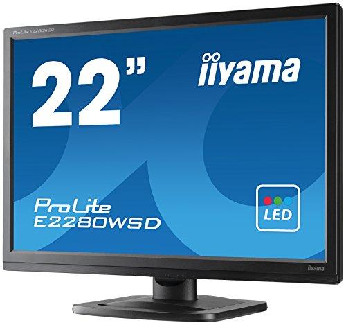 iiyama ProLite E2280WSD-B1 56cm (22 Zoll) LED-Monitor 16:10 (VGA, DVI) schwarz
