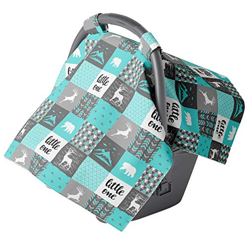 Car seat Covers for Babies - Carseat Canopy - Baby car seat Cover for Boys and Infant Girls (Wild Mountains)