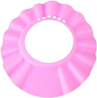 Safe Shampoo Shower Bathing Protection Bath Cap Soft Adjustable Visor Hat for Toddler, Baby, Kids, Children-PINK