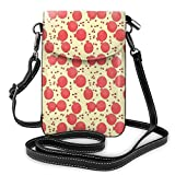 Jiger Women Small Cell Phone Purse Crossbody,Pattern With Pomegranate Fruit And Seeds Antioxidant Ripe Food