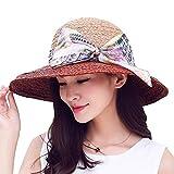 Haixin Cappello Visiera di Estate Lady UV, Signora Moda Protezione Solare Spiaggia Paglia Cappello