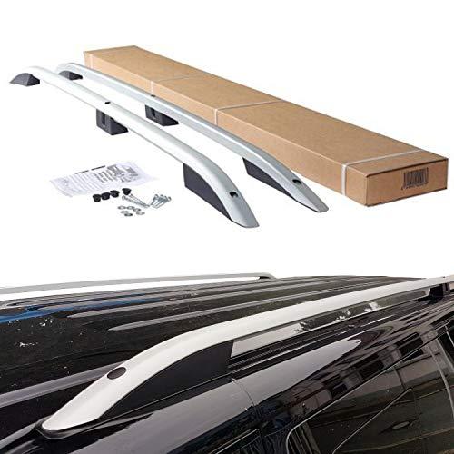 Bremer Sitzbezüge - Baca de aluminio para techo, color: plateado mate