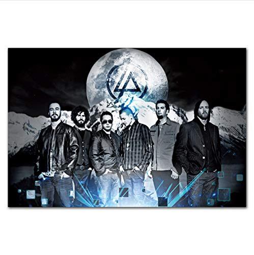 NOBRAND Chester Bennington Poster Linkin Park Rock Music Band Carteles E Impresiones Lienzo Pintura Arte De La Pared Imagen Sala De Estar Decoración para El Hogar A371 (50X70Cm) Sin Marco