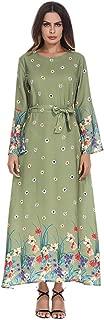 Muslim Thobe Dubai Abaya Women Kaftan Islamic Long Sleeve Maxi Dress
