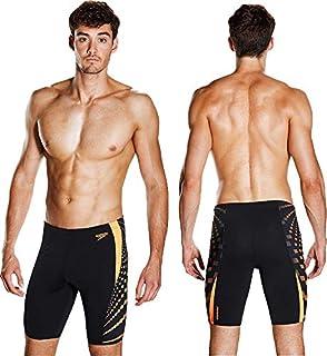 Speedo Graphic Splice Adult Mens Swimming Jammer Shorts Swim Trunks