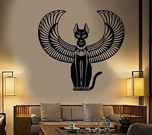 WERWN Vinilo Adhesivo para Pared Antiguo Gato Egipcio Diosa Egipto