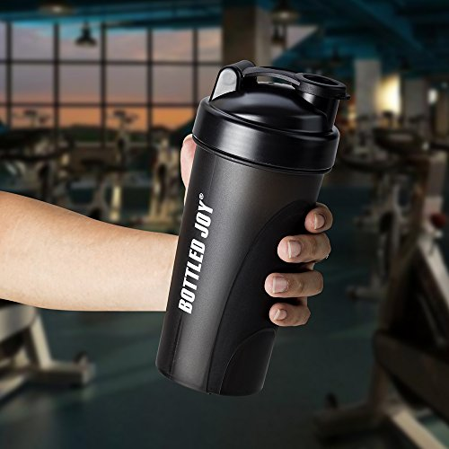 Water Bottle Sports Water Bottle BPA FREE Protein Shaker Bottle with Large Capacity BOTTLED JOY Shaker Cups With Mixing Ball 23oz 700ML for Sports Gym Outdoor Home Office