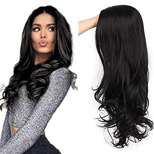 Perruque Femme Naturelle Noir Frisée 24'' Posional-Lace Frontal 2020 Nouvelle Perruque Synthétique de Haute Qualité-Longue Belle à la Mode Wig