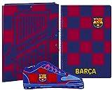 Barcelona FC Juego de Regalo de Papelería, Set de Regalo de Fútbol para Niños, Contiene Cuaderno A4 (80 páginas), Carpeta y Estuche, Regalo para Niños!