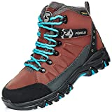 Foxelli Women's Hiking Boots – Waterproof Hiking Shoes for Women, Suede Leather, Breathable, Comfortable & Lightweight Hiking Boot Brown